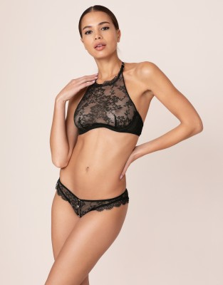 Agent Provocateur Crotchless Knickers Annoushka Black Ouvert