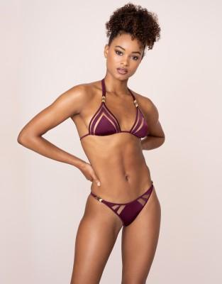 Agent Provocateur Tora Bikini Bottom In Plum