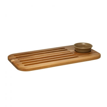 """18"""" x 9"""" Bread Board and Dipping Dish Set (Default Title)"""