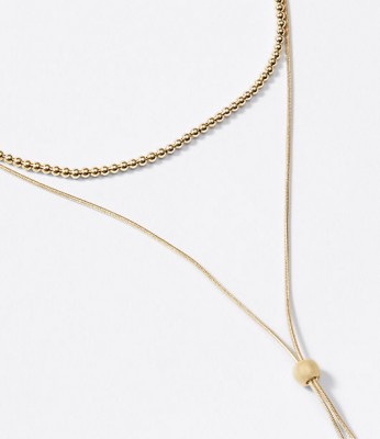 Loft Layered Ball Y-Necklace