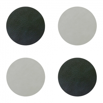 LIND DNA - Double Circle Drinks Coaster - Set of 4 - Black / Metallic