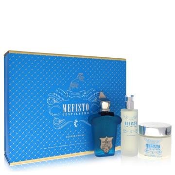 Mefisto Gentiluomo for Men, Gift Set (3.4 oz EDP Spray + 3.4 oz Deodorant Spray + 6.7 oz Shave and Post Shave Cream)