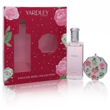 English Rose Yardley for Women, Gift Set (4.2 oz EDT Spray + Compact Mirror)