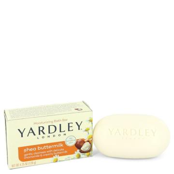 Yardley London Soaps Soap 4.25 oz Shea Butter Milk Naturally Moisturizing Bath Soap for Women