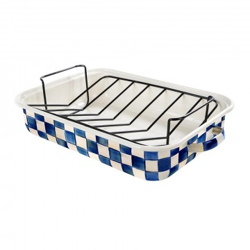 MacKenzie-Childs - Royal Check Roasting Pan with Rack - Core