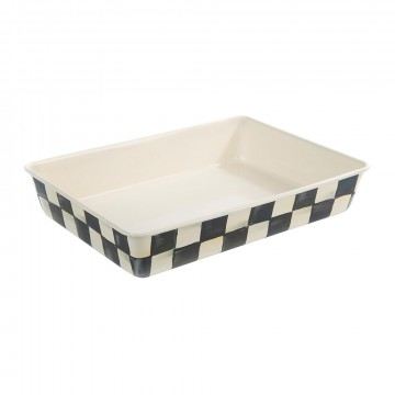 """MacKenzie-Childs - Courtly Check Enamel Baking Pan - Core - 9""""x13"""