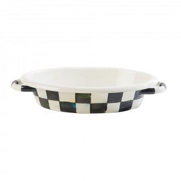 MacKenzie-Childs - Courtly Check Enamel Oven Gratin Dish - Small