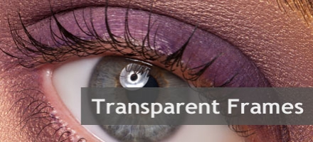 Fashionable transparent frames. Your new glasses in this ultra-modern style.
